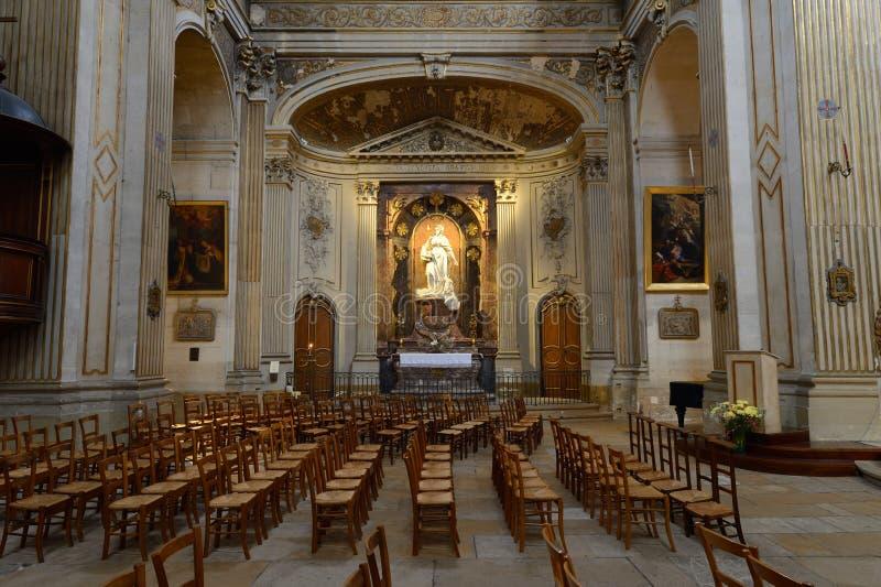 En l ?iglesia de Ile - Par?s de St. Louis foto de archivo