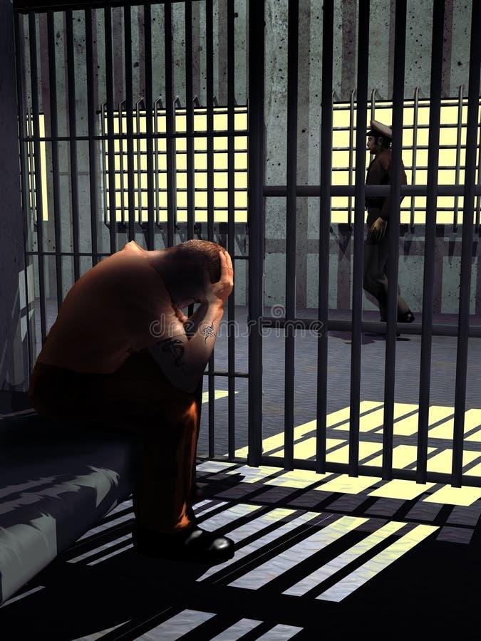 En la cárcel stock de ilustración
