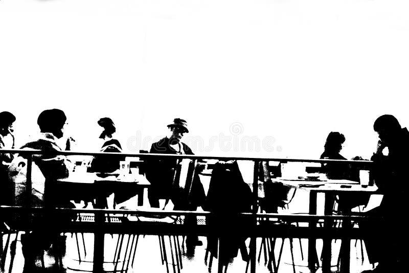 En la cafetería libre illustration