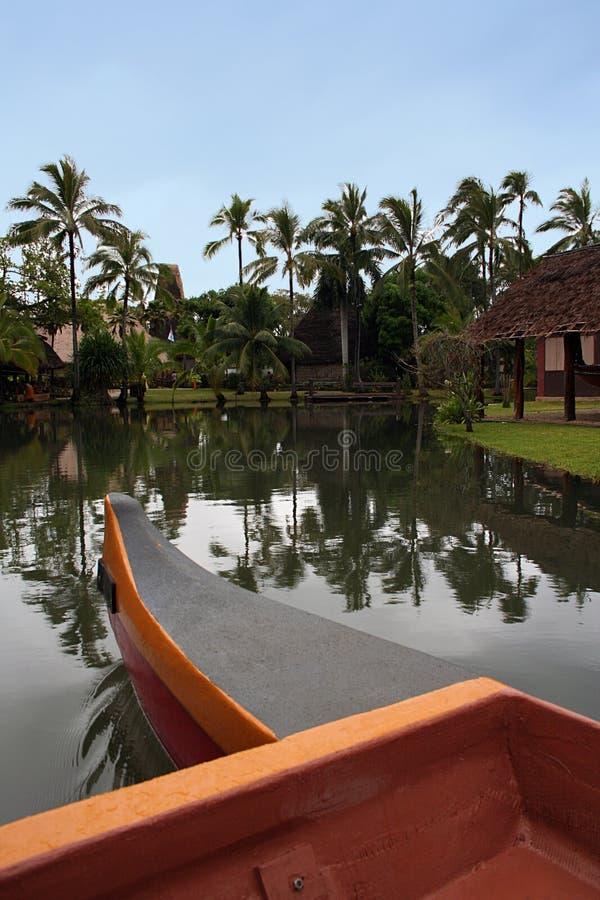 En la canoa fotografía de archivo