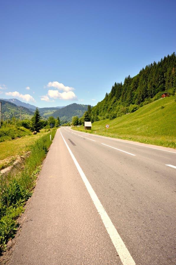 En la carretera foto de archivo