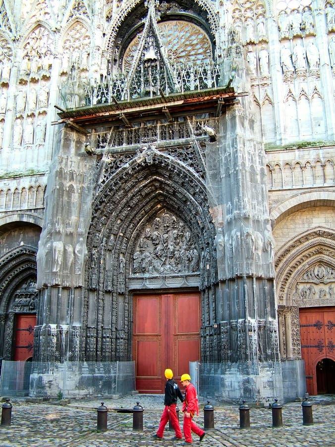 En la catedral en Ruán en Francia fotografía de archivo