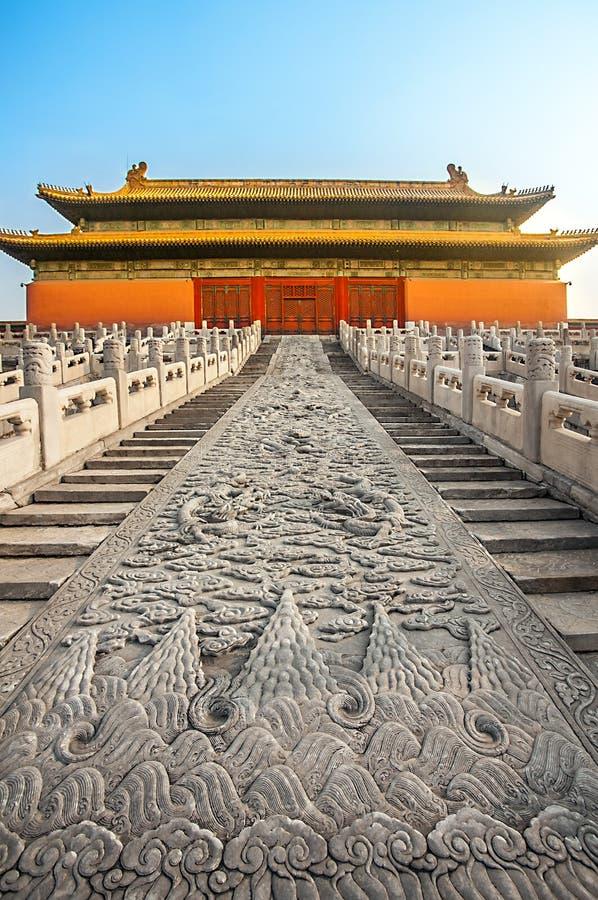 En la ciudad Prohibida en Pekín fotos de archivo libres de regalías