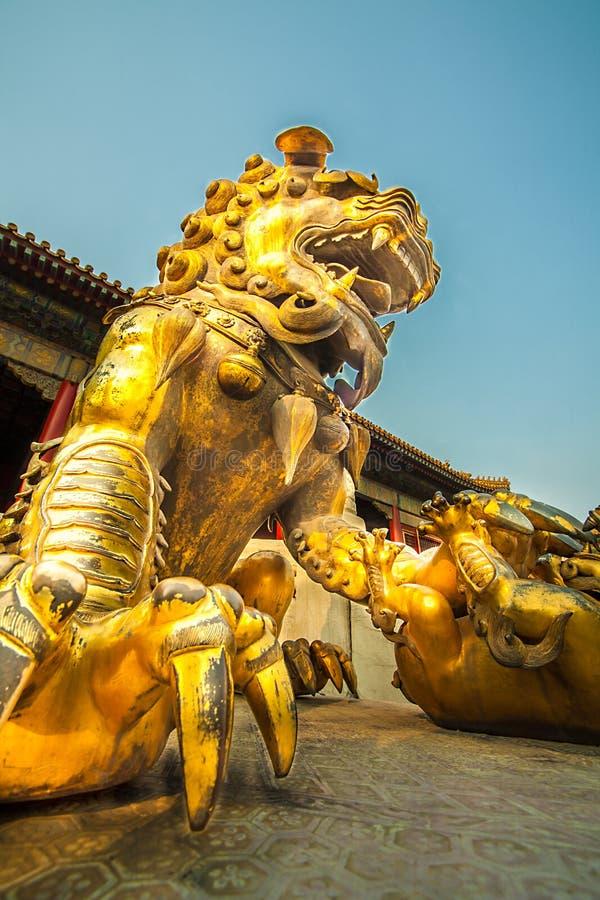 En la ciudad Prohibida en Pekín foto de archivo libre de regalías