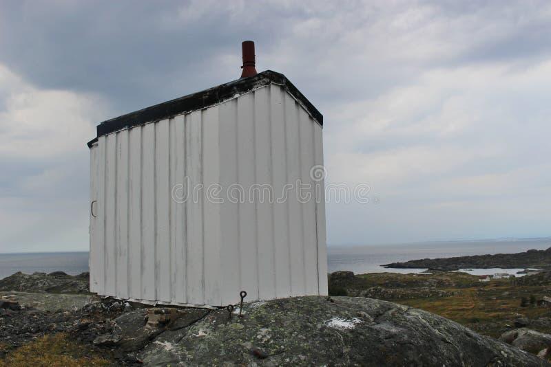 En la costa de la isla Utsira en Noruega, Europa imagen de archivo libre de regalías