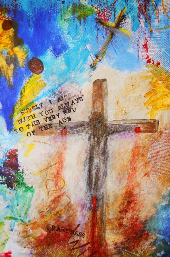 En la cruz stock de ilustración