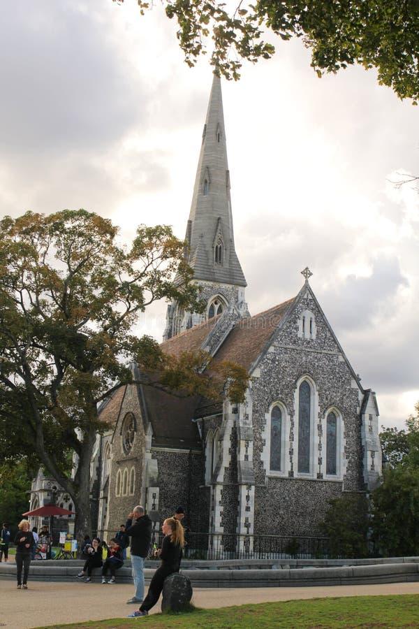 En la iglesia en Copenhague, Dinamarca - 21 de agosto de 2017 imagenes de archivo