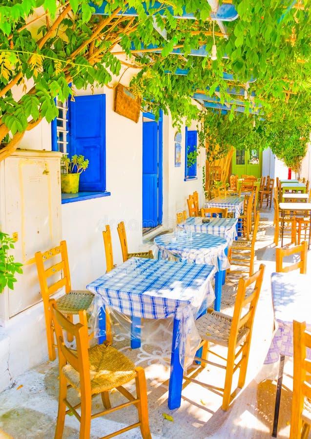 En la isla de Amorgos en Grecia imagenes de archivo