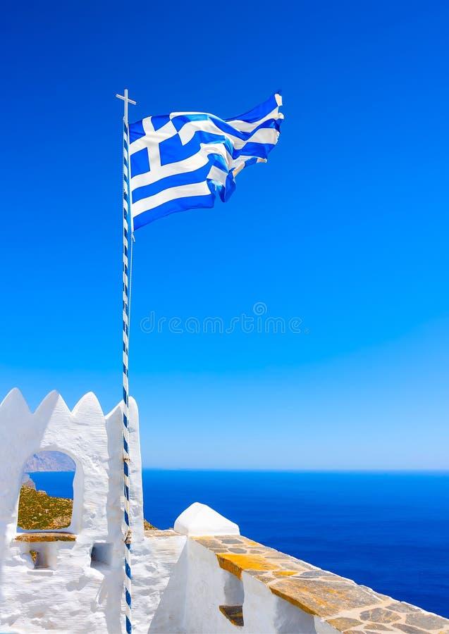 En la isla de Amorgos en Grecia imágenes de archivo libres de regalías