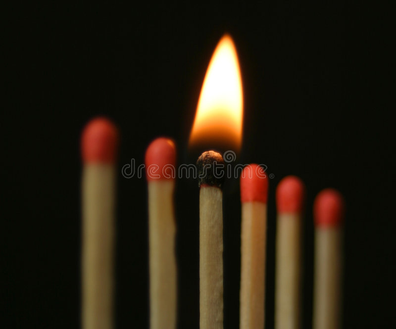 En la línea de fuego foto de archivo libre de regalías