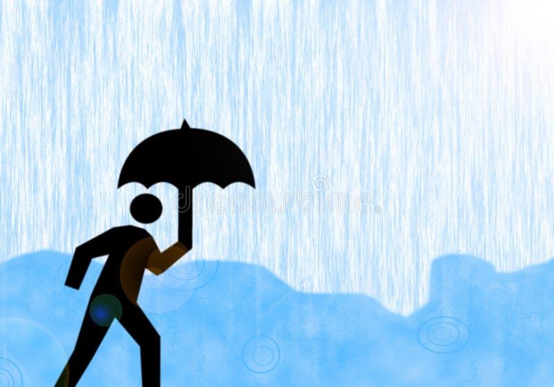 En la lluvia imagen de archivo