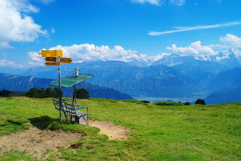 En la montaña de Niederhorn fotos de archivo libres de regalías