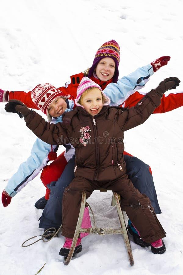 En la nieve fotos de archivo libres de regalías