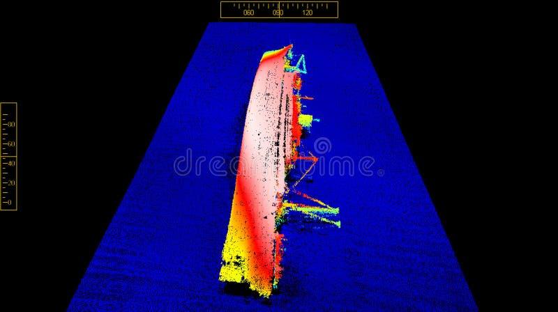 En la parte inferior del mar foto de archivo