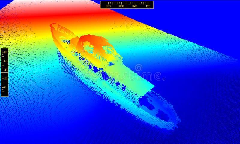 En la parte inferior del mar ilustración del vector