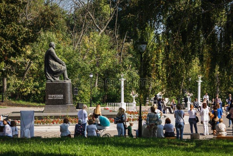 En la patria del gran escritor ruso Ivan Turgenev foto de archivo libre de regalías