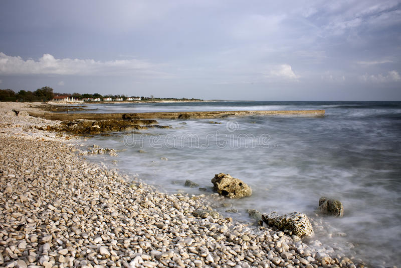 En la playa imagenes de archivo