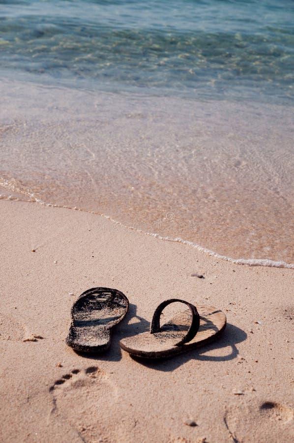 en la playa de DA imagenes de archivo