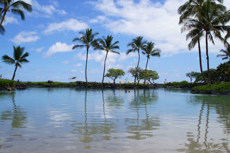 En la playa en Kauai imagen de archivo