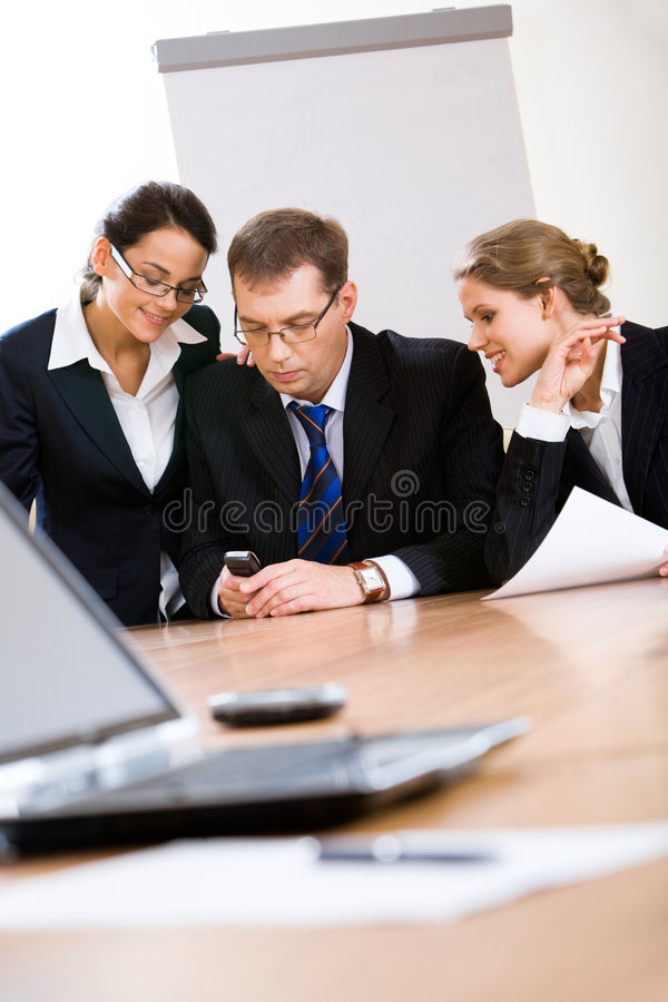 En la reunión foto de archivo libre de regalías
