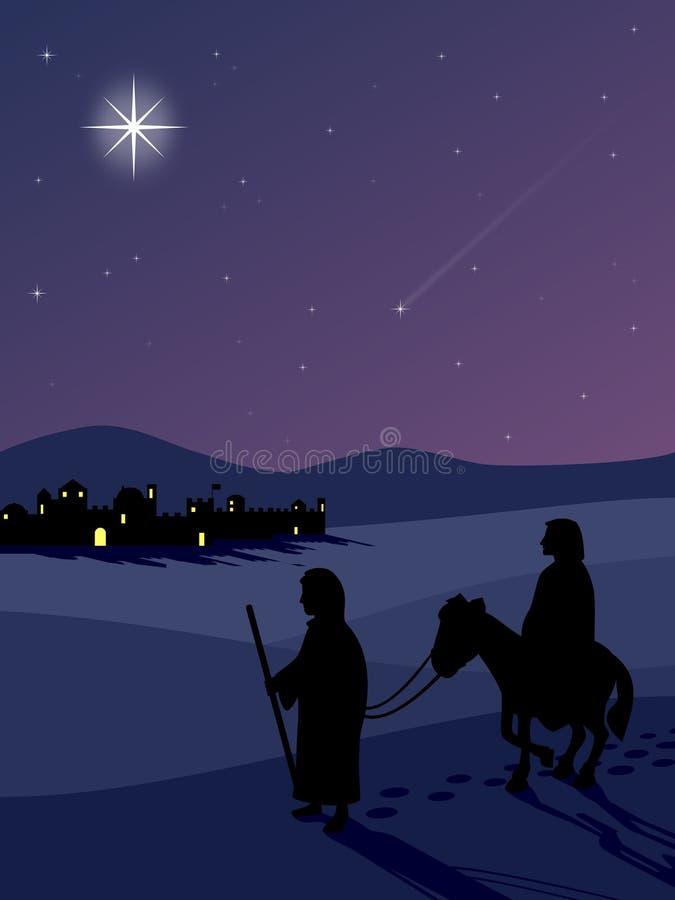 En la ruta a Bethlehem libre illustration