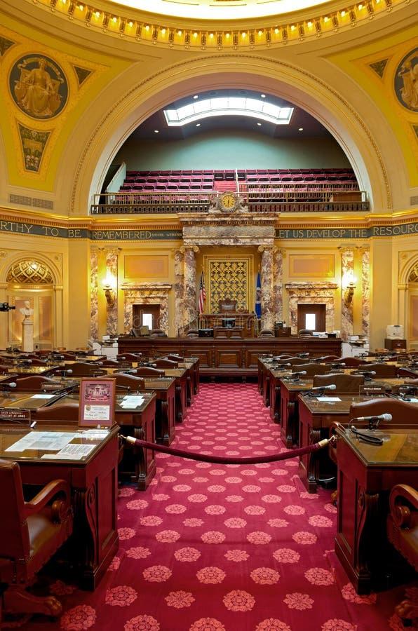 En la sala del Senado en el capitolio de Minnesota fotografía de archivo