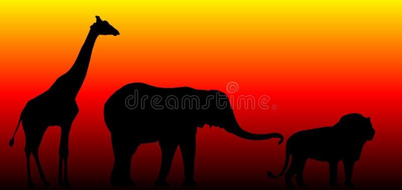 En la selva ilustración del vector