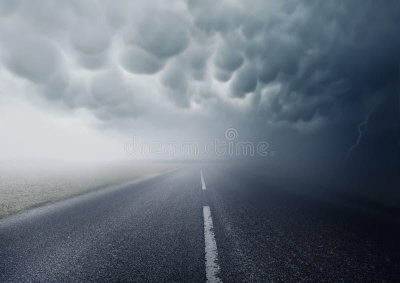 En la tormenta fotografía de archivo libre de regalías