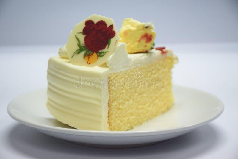 En lappa av tårtan arkivfoto