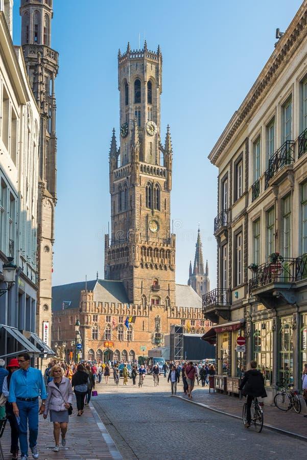 En las calles de Brujas - Bélgica fotografía de archivo libre de regalías