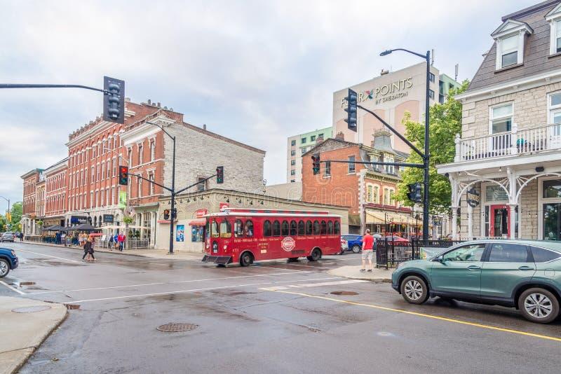 En las calles de Kingston en Canadá foto de archivo