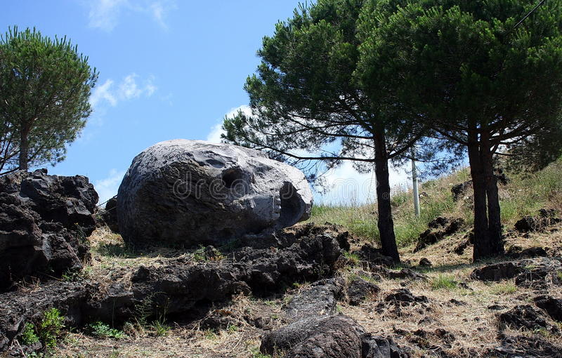 En las cuestas de Vesuvio imagen de archivo libre de regalías