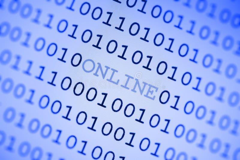En ligne et nombres binaire illustration libre de droits