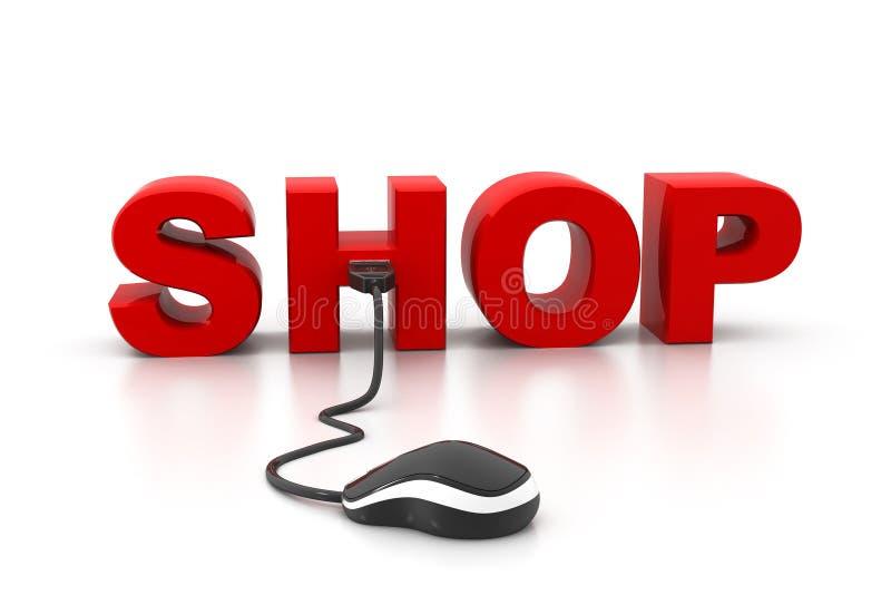 En ligne shoping illustration libre de droits