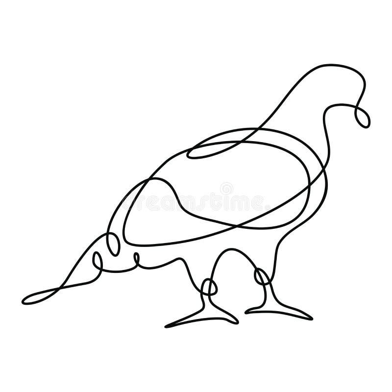 En linje teckning stock illustrationer