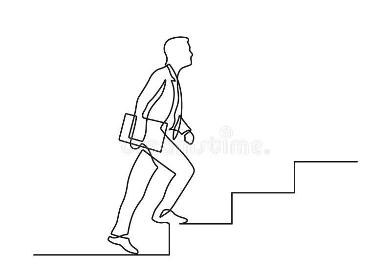 En linje trappa royaltyfri illustrationer