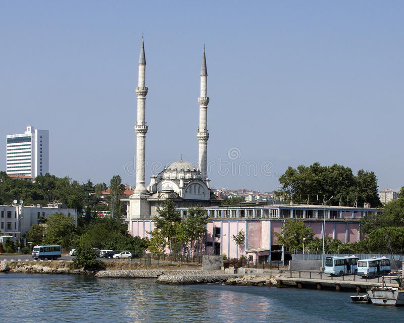 En liten moské, asiatisk sida Turkiet arkivbild