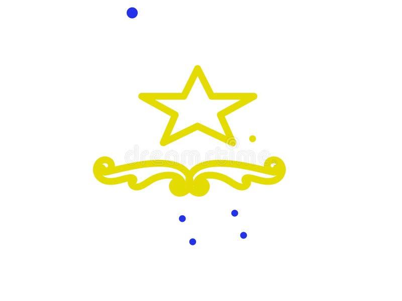 En ljus stjärna! royaltyfri illustrationer