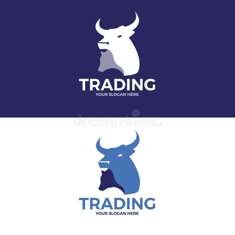 En logo om handel Vektorlogomall arkivfoton