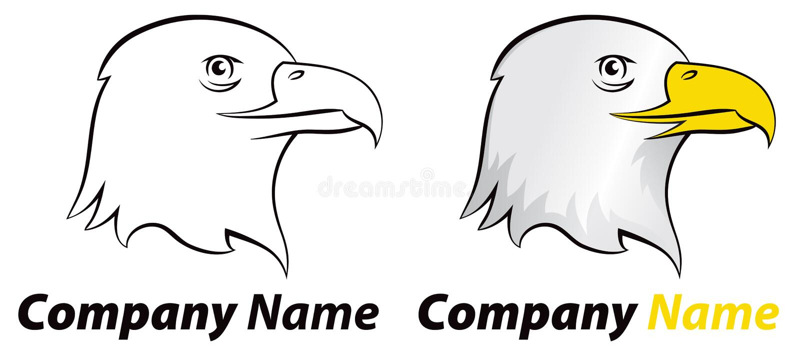 Örnfågellogo stock illustrationer
