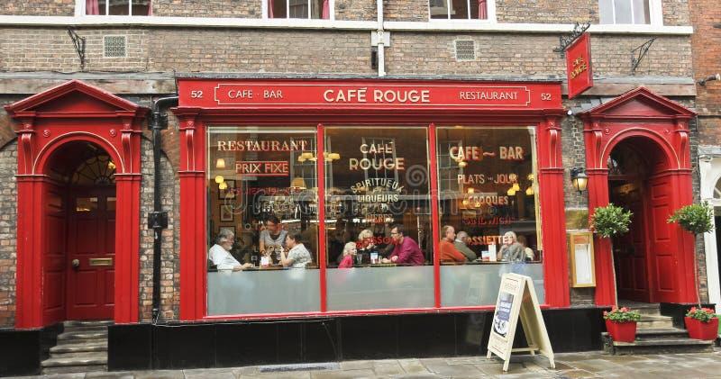 En Look på CafeRouge, York, England arkivbilder