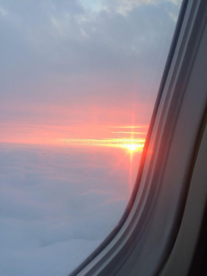 En los cielos foto de archivo
