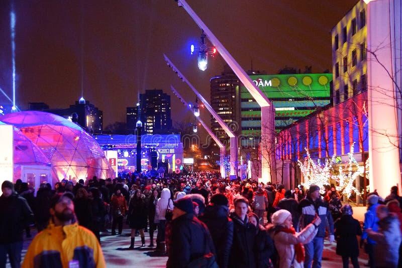 En Lumieres de Montréal image stock
