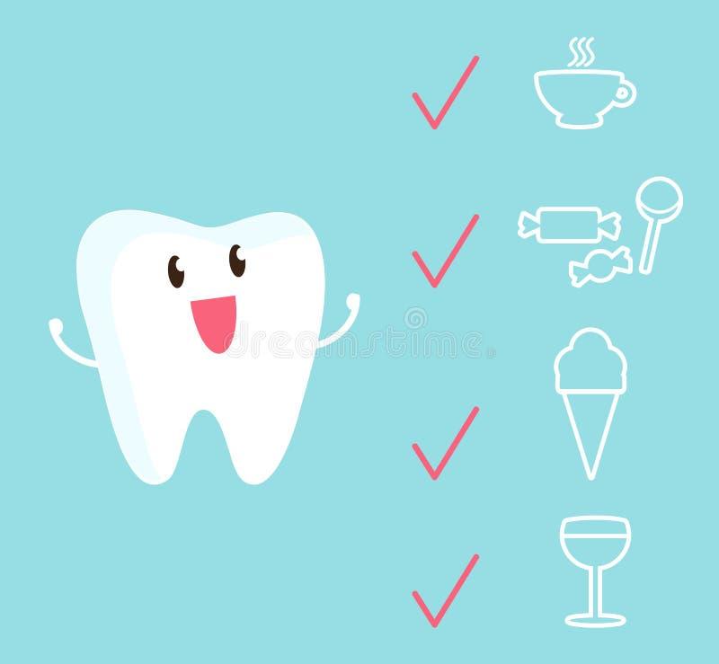 En lycklig stark tand är inte rädd av jagare vektor illustrationer