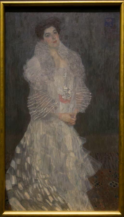 En målning av Gustav Klimt i National Gallery i London arkivfoto