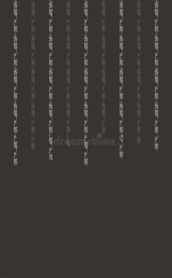 En mörk grå färgdesign med abstrakt lodlinje texturerade linjer stock illustrationer