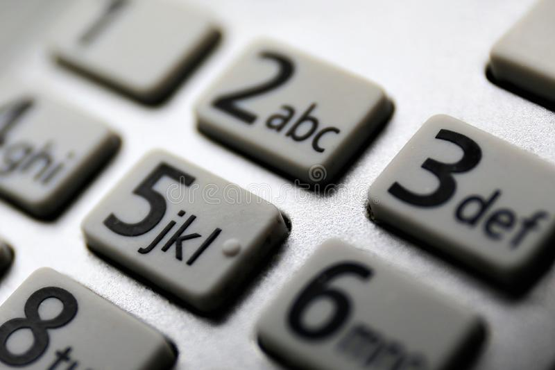 En makrobild av en keybord med nummer arkivfoto