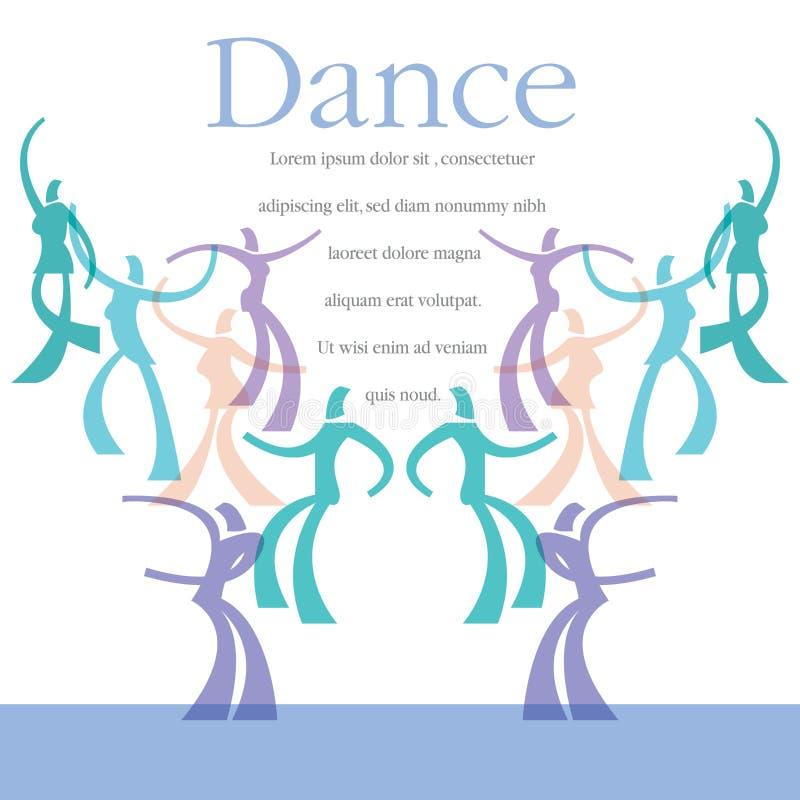 En mall för en dansgrupp royaltyfri illustrationer
