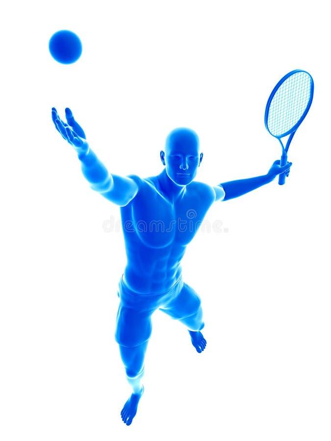 En man som spelar tennis royaltyfri illustrationer