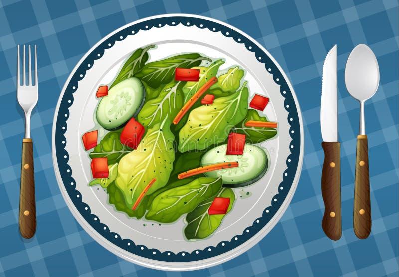 En mat och en maträtt vektor illustrationer
